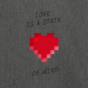 Love State of mind Pixel valentinstag Nerd Game ga - Schultertasche aus Recycling-Material