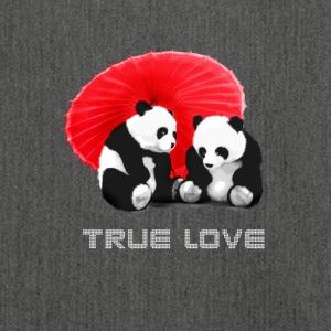 panda love true liebe Funny Asia Schirm together - Schultertasche aus Recycling-Material