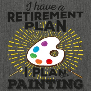 Retirement plan painting (dark) - Shoulder Bag made from recycled material