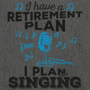 Retirement plan singing (dark) - Shoulder Bag made from recycled material