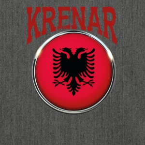 Albanian albanian love krenar pride - Shoulder Bag made from recycled material