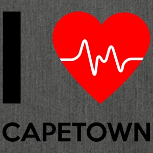 I Love Capetown - Ich liebe Capetown - Schultertasche aus Recycling-Material