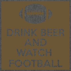 Football: Drink Beer and Watch Football - Shoulder Bag made from recycled material