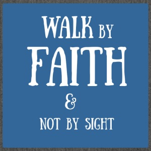 walk by faith - Schultertasche aus Recycling-Material