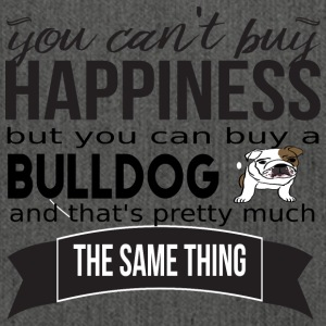 you cant buy happiness bulldog - Schultertasche aus Recycling-Material