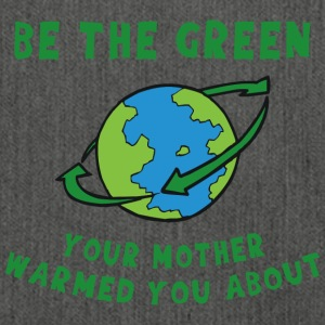 Earth Day Go Green - Shoulder Bag made from recycled material