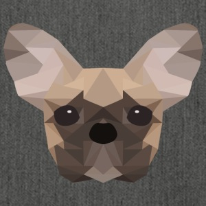 French Bulldog Low Poly - Shoulder Bag made from recycled material