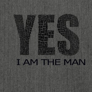 YES I AM THE MAN - Shoulder Bag made from recycled material