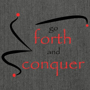 Forth and conquer rot schwarz - Schultertasche aus Recycling-Material