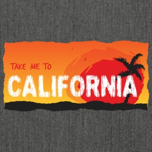 Take Me To California - Schultertasche aus Recycling-Material
