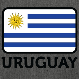 National Flag Of Uruguay - Axelväska av återvinningsmaterial