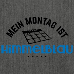 Mein Montag ist himmelblau - Schultertasche aus Recycling-Material