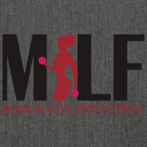 Milf : Moms in love with fitness - Schultertasche aus Recycling-Material
