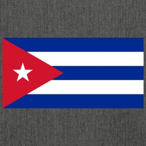 National Flag Of Cuba - Axelväska av återvinningsmaterial