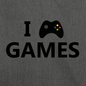 I Love Games 3 - Schultertasche aus Recycling-Material