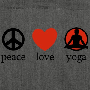 Peace Love Yoga - Schultertasche aus Recycling-Material