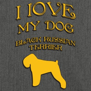 I LOVE MY DOG Black Russian Terrier - Shoulder Bag made from recycled material