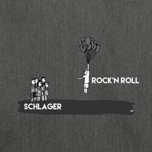 rock and roll - Bandolera de material reciclado