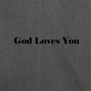 God Loves You - Shoulder Bag made from recycled material