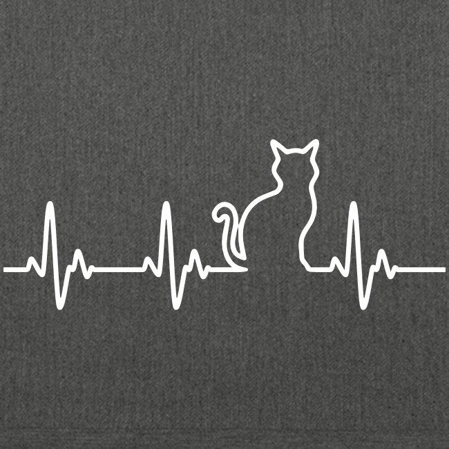 Vorschau: Ein Herz für Katzen - Schultertasche aus Recycling-Material