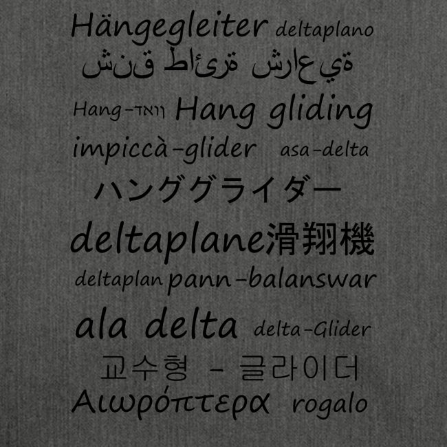deltaplane en plusieurs langues