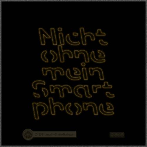 Design Nicht ohne mein Smartphone gold 4x4 - Schultertasche aus Recycling-Material