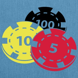 Poker chips - Shoulder Bag made from recycled material