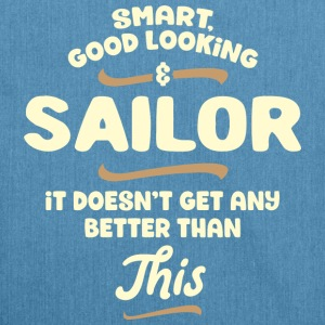 Smart, good looking and SAILOR... - Schultertasche aus Recycling-Material