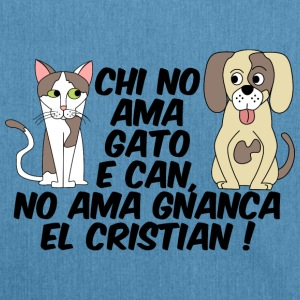 chi no ama gato e can - Borsa in materiale riciclato
