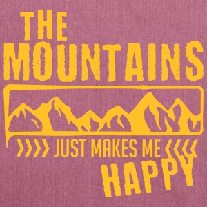 Mountains make happy - mountain - Shoulder Bag made from recycled material
