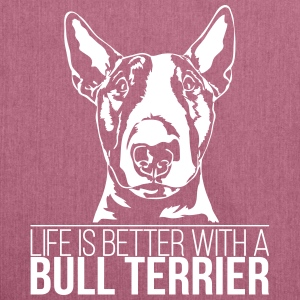 LIFE IS BETTER WITH A BULL TERRIER - Shoulder Bag made from recycled material
