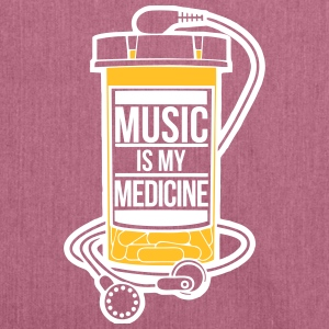 Music is my medicine - Shoulder Bag made from recycled material