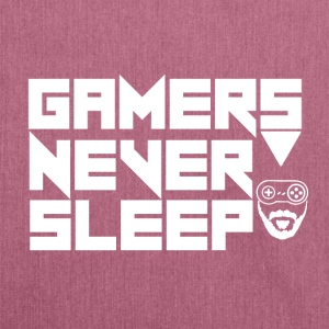 Gamer - Gamers Never Sleep - Shoulder Bag made from recycled material