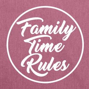 Family Time Rules - Schultertasche aus Recycling-Material
