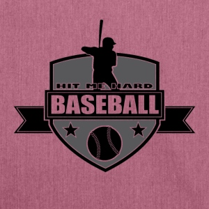 Baseball - Hit me hard - Borsa in materiale riciclato
