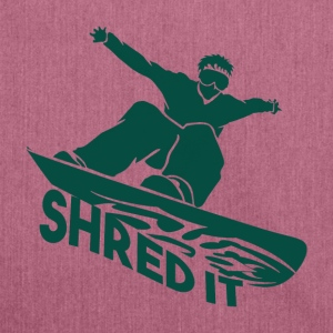 SHRED IT - Boarder Power - Schultertasche aus Recycling-Material