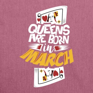 Queens are born in March - Shoulder Bag made from recycled material