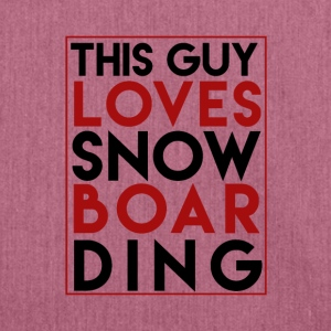 This Guy Loves Snowboarding - Boarder Power - Schultertasche aus Recycling-Material