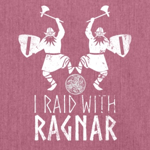 I Raid With Ragnar Wikinger Design - Schultertasche aus Recycling-Material