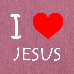 I Love Jesus - Schultertasche aus Recycling-Material
