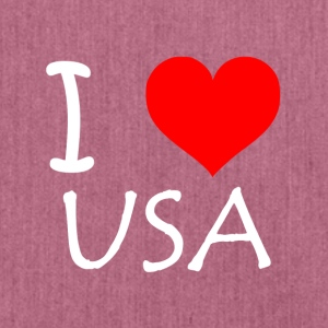I Love USA - Schultertasche aus Recycling-Material