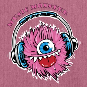 Music Monster - DJ - Party - Schultertasche aus Recycling-Material