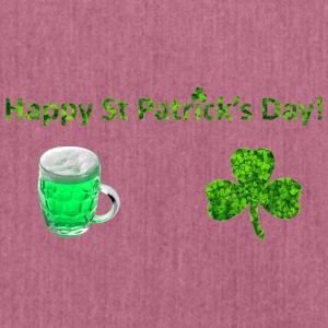 Happy St Patricks Day - Schultertasche aus Recycling-Material