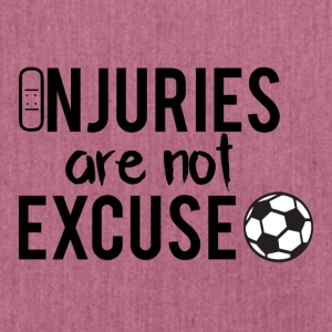 Fußball: Injuries are not excuse! - Schultertasche aus Recycling-Material