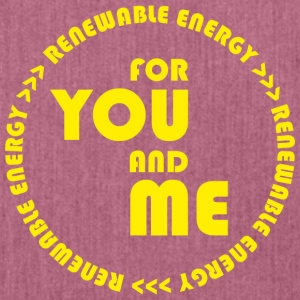 RENEWABLE energy for you and me - yellow - Schultertasche aus Recycling-Material