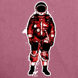 Astronaut Red Grunge - Shoulder Bag made from recycled material