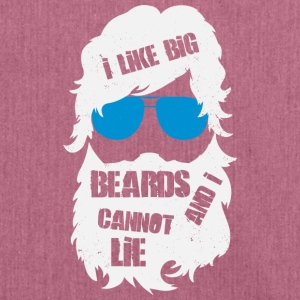 I like Big Beards - bart - Schultertasche aus Recycling-Material