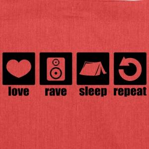 Love rave sleep repeat - Shoulder Bag made from recycled material