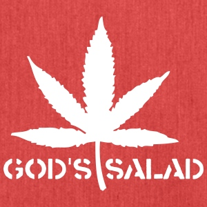 Marijuana- God's Salad! - Shoulder Bag made from recycled material