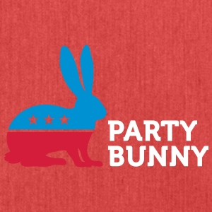 Political Party Animals: Bunny - Shoulder Bag made from recycled material